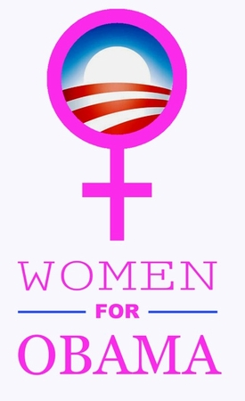Women for Obama Pink Logo T-Shirt