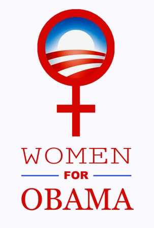 Women for Obama Red Logo T-Shirt