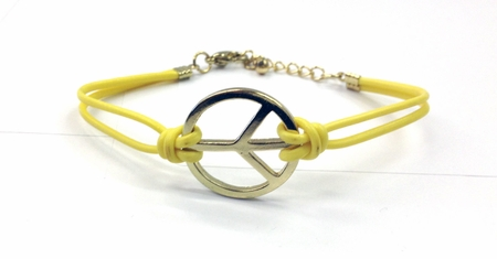 Yellow Peace Bracelet