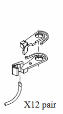 Accurail Inc Accumate #5 Coupler HO (12PR) unassembled