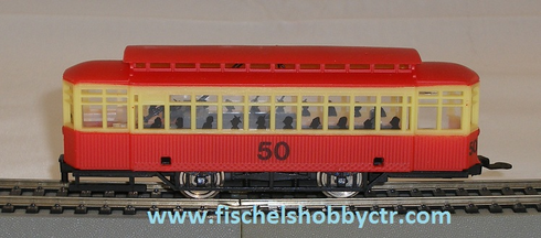 AHM #50 trolley car Lighted Silhouette HO scale RTR