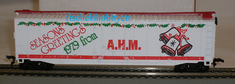 AHM 5582-10 HO 1979 Christmas 50 foot plug door box car