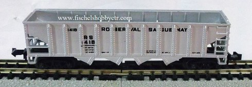 AHM Roberval Saguenay 4 bay hopper # RS 1418 N scale