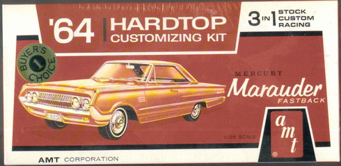 AMT # 6022 1964 Hard Top Mercury 1/25 Scale Kit