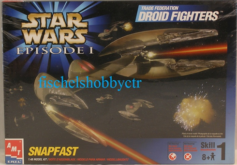 AMT 30118 Trade Federation Droid Fighters Episode I SnapFast kit