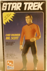 AMT 8777 Star Trek 12 inch Chief engineer Mr Scott Vinyl kit