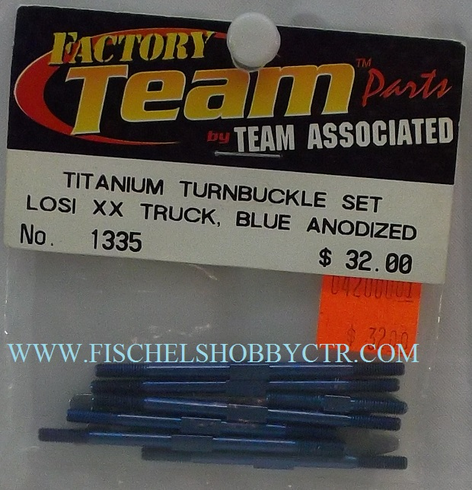 Associated 1335 Titanium Turnbuckle set Losi XX truck Blue Anodized