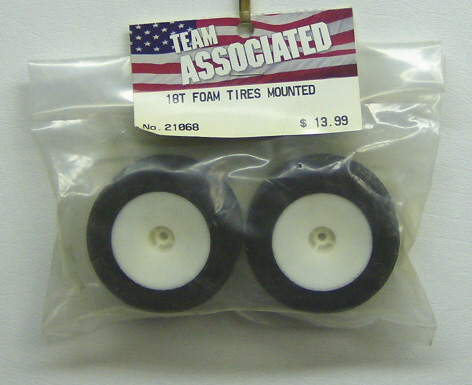 Associated 21068 18T foam tires mounted