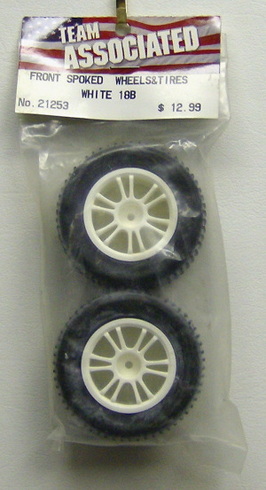 Associated 21253 Fr Spoked Wheels and Tires 18B
