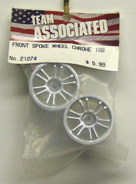 Associated 21274 Fr Spoke Wheel Chrome 18B