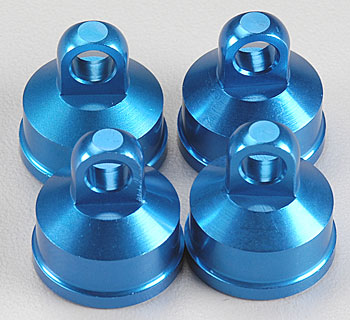 Associated 25404 FT Aluminum Shock Caps Blue MGT (4)