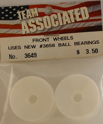 Associated 3649 Front Wheels uses new #3656 ball bearings
