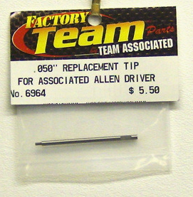 Associated 6964 .050 in Replacement Tip for ASC Allen driver
