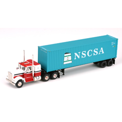 Athearn 27847 HO RTR Kenworth w/40' Cont & Chassis, NSCSA #2