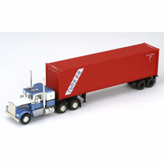Athearn 27849 HO RTR Kenworth w/40' Cont & Chassis, Turkon #2