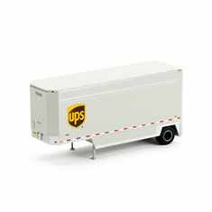 Athearn 29407 HO RTR 28' Drop Sill Parcel Trailer, UPS #292848