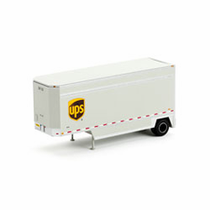 Athearn 29408 HO RTR 28' Drop Sill Parcel Trailer, UPS #36123