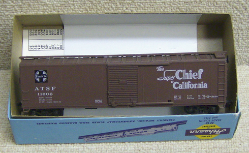 Athearn 5051 50' Single door box car ATSF Super Chief HO scale RTR