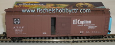 Athearn 5052 ATSF 50' single door box car El Captain #11043 HO scale RTR
