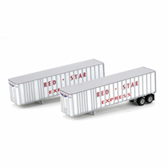 Athearn 70952 HO RTR 40' Exterior Post Trailer, Red Star #2 (2)