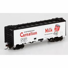 Athearn 71373 HO RTR 40' Steel Reefer, Carnation Milk #25025