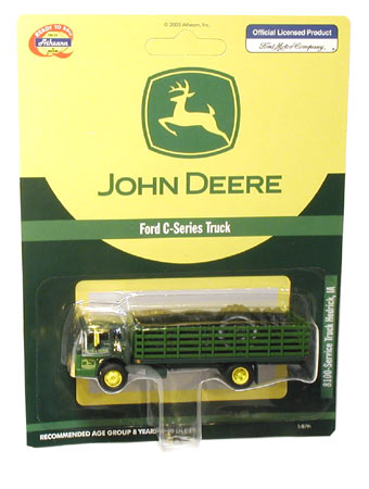 Athearn 8100 HO RTR Ford C Stake Bed w/12 Tires, John Deere