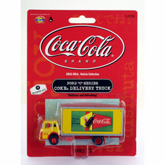 Athearn 8208 HO RTR Ford C Box Van, Coke/Delicious