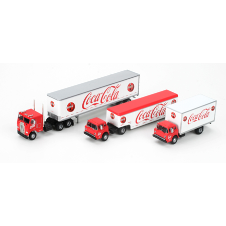 Athearn 8212 HO RTR Delivery Trucks, Coke #3 (3)