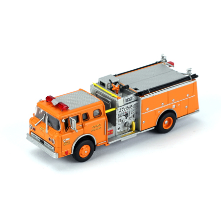 Athearn 92004 HO RTR Ford C Fire Truck, County Fire Dept/Orange