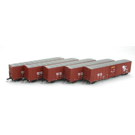 Athearn 92343 HO RTR 57' Mech Reefer, BNSF/Brown (5)
