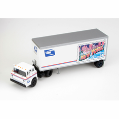 Athearn 93432 HO RTR Ford C w/28' Trailer, USPS/New York