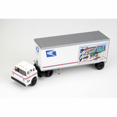 Athearn 93433 HO RTR Ford C w/28' Trailer, USPS/North Carolina