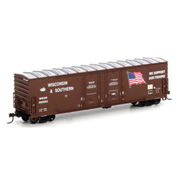 Athearn 96921 HO RTR 50' DD Plug Box, WSOR/Support Our Troops
