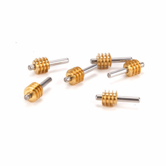 Athearn ATHG40063�HO Worm Gear with Shaft, Brass (6)