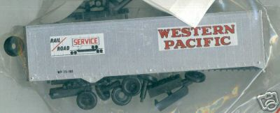 Athearn Ho Scale 40 foot Trailer Western Pacific