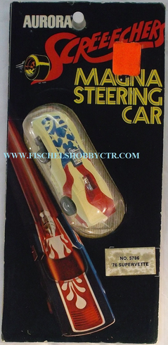Aurora 5786 Screeechers Magna Steering car '76 Supervette HO slot car