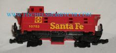 Aurora N scale Santa Fe caboose # 10752 for parts
