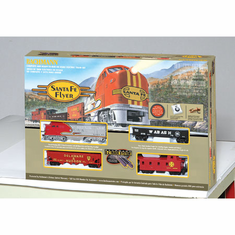 Bachmann 00647 HO Santa Fe Flyer Train Set
