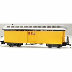 Bachmann 26418 On30 Spectrum Baggage Car/Lighted, D&RGW