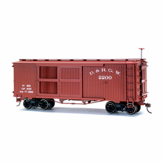 Bachmann 27618 On30 Spectrum Ventilated Box, D&RGW
