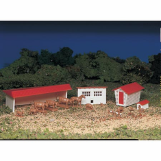 Bachmann 45152 HO Snap KIT Farm Building w/Animals