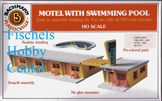 Bachmann 45214 Motel with Swimming pool HO snap kit