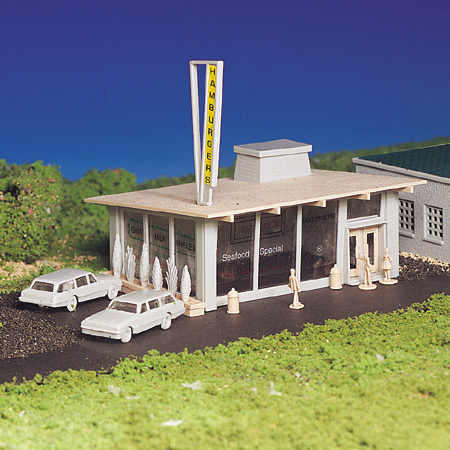 Bachmann 45434 HO Snap KIT Hamburger Stand