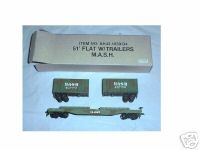 Bachmann HO 51 Flat car with trailers M A S H