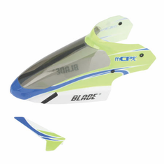 Blade BLH3519 Complete Green Canopy with Vertical Fin: mCP X