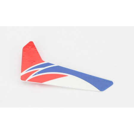 Blade BLH3520R Red Vertical Fin with Decal: mCP X