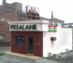 Blair Line 196 Pizzaland HO scale building