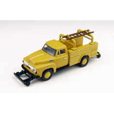 Classic Metal Works 30215 HO 1954 Ford F-350 Utility Truck, Chrome Yellow
