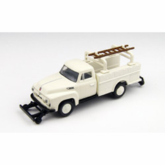 Classic Metal Works 30217 HO 1954 Ford F-350 Utility Truck, Utility White