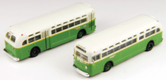 Classic Metal Works 52305 GMC TD 3610 Transit Bus 2-Pack - Assembled Walthers Exclusive - Mini Metals(R) N scale
